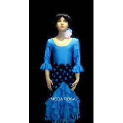 Conjunto Niña Falda de Volantes + Body