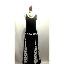 Vestido de Flamenca de Tirantes y Godets