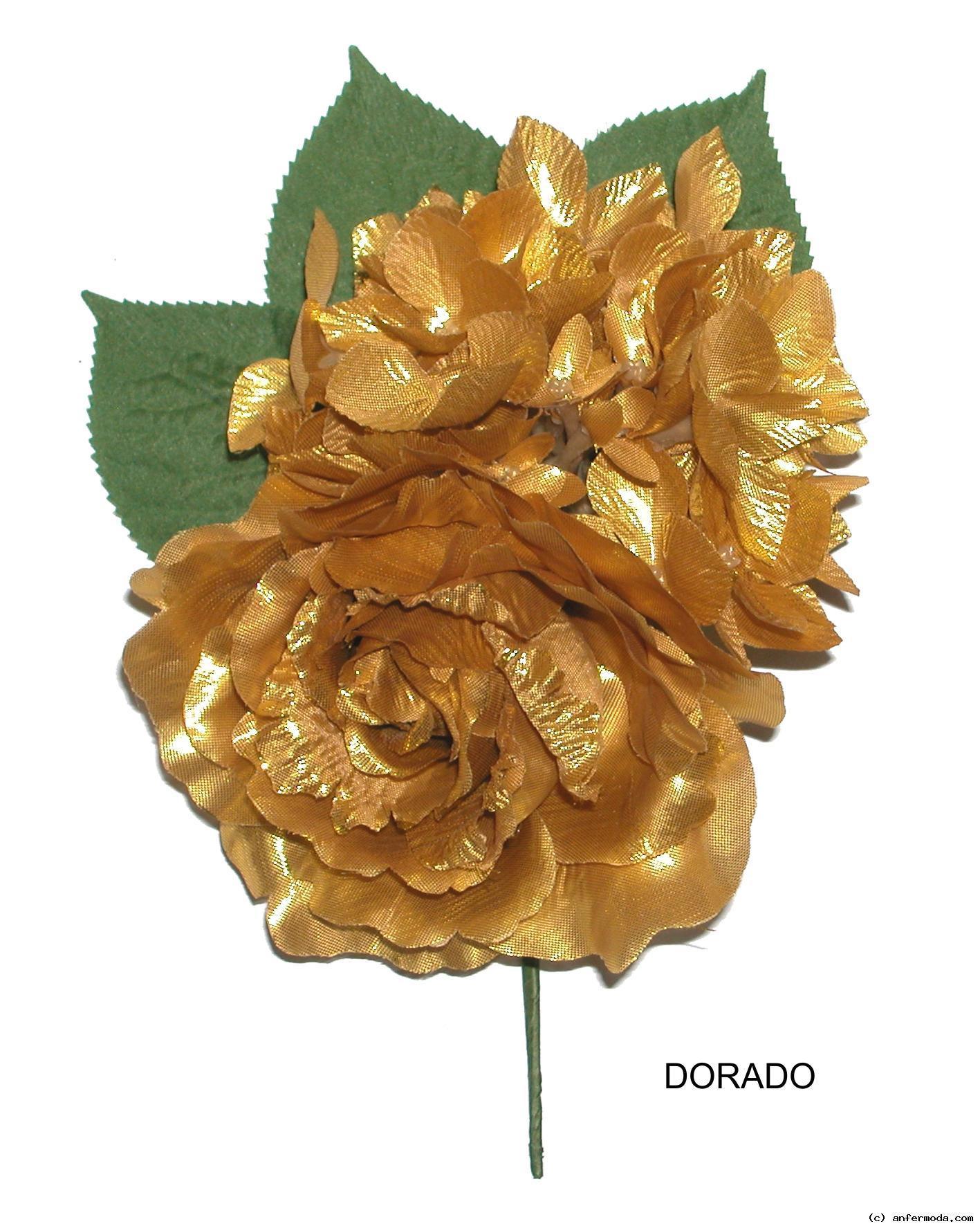 fc2451767f40 FLOR FLAMENCA RAMILLETE CON ROSA - Trajes de flamencos Moda Rosa