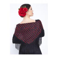 Mantón Flamenco para Mujer Estampado con Lunares